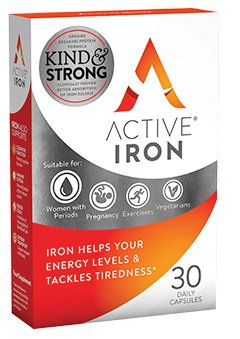Active Iron helps your energy levels and tackles tiredness