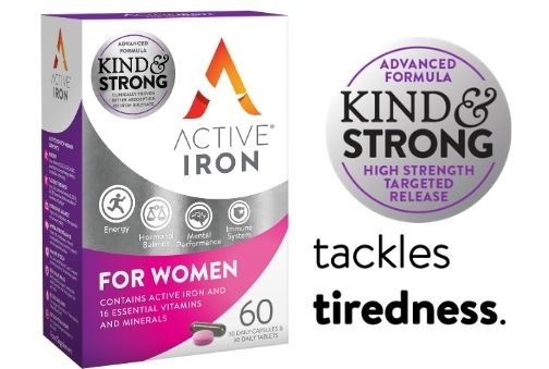 active iron for women tackles tiredness